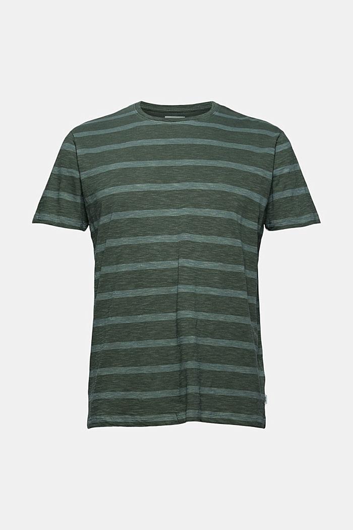 Jersey-T-Shirt im Streifenlook, TEAL BLUE, detail image number 5