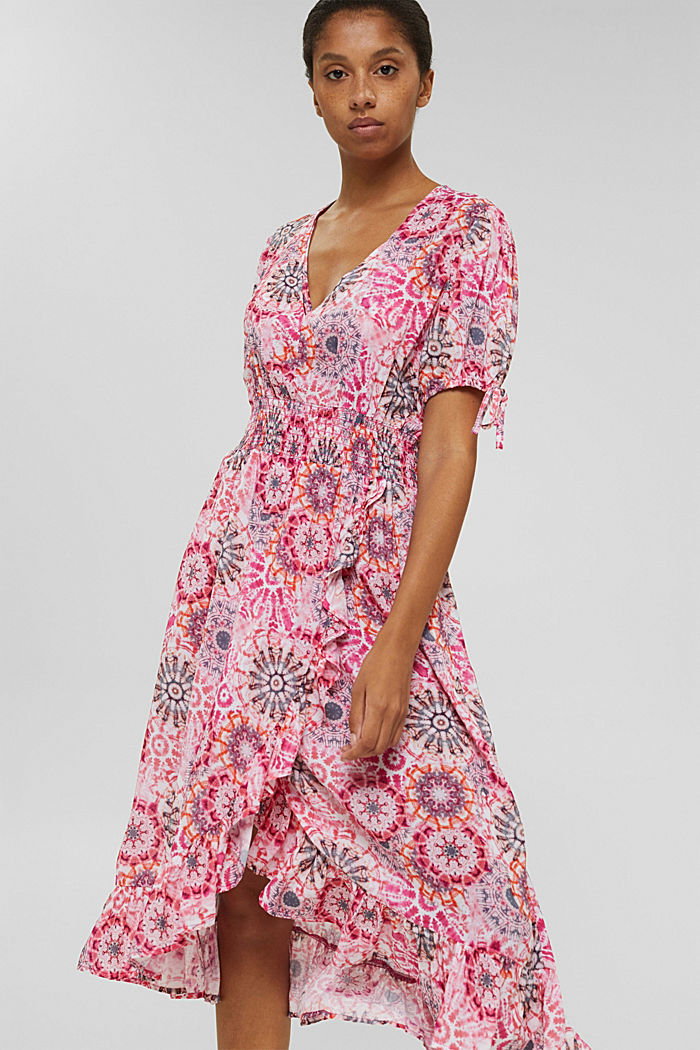 Kleid im Batik-Look aus LENZING™ ECOVERO™, PINK, detail image number 0