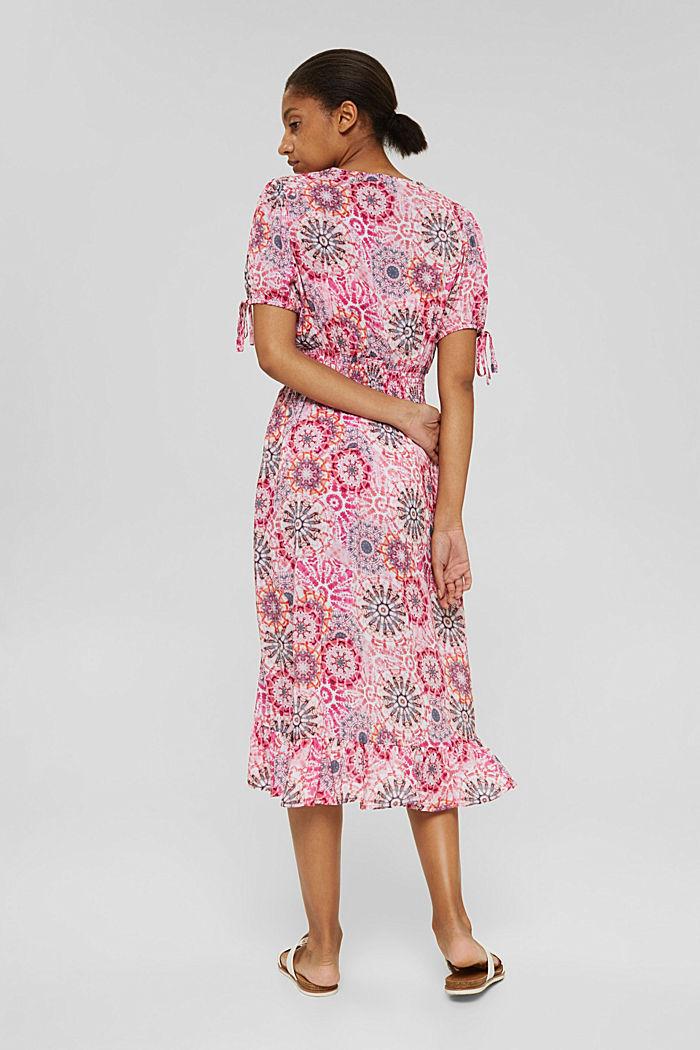 Kleid im Batik-Look aus LENZING™ ECOVERO™, PINK, detail image number 1
