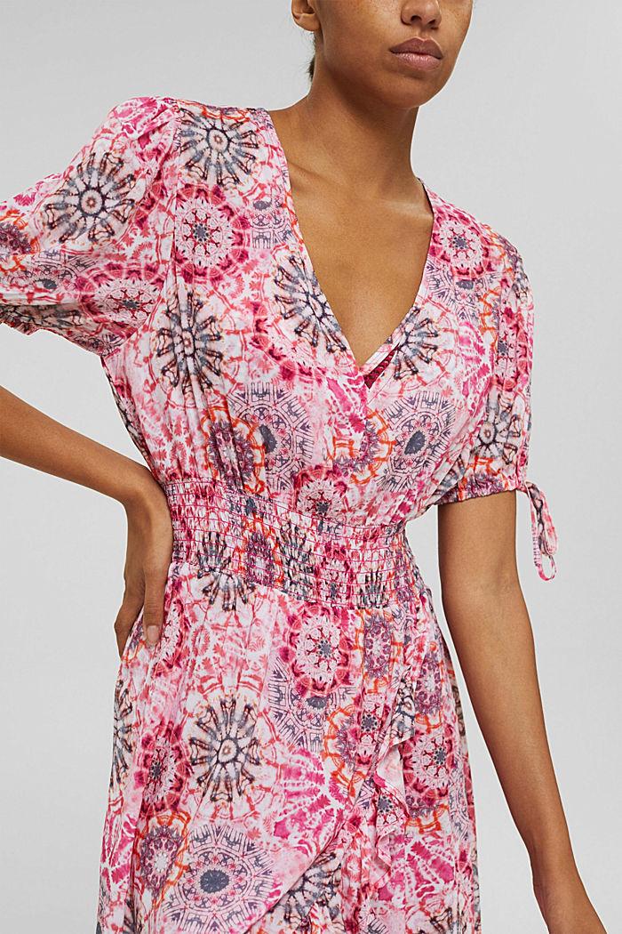 Kleid im Batik-Look aus LENZING™ ECOVERO™, PINK, detail image number 5