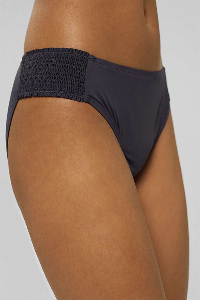 Recycled: briefs with smocked details, ANTHRACITE, detail image number 1