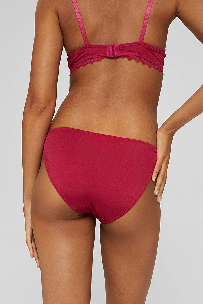 2ks vbalení: bokové kalhotky se vzorem, DARK PINK, detail image number 3