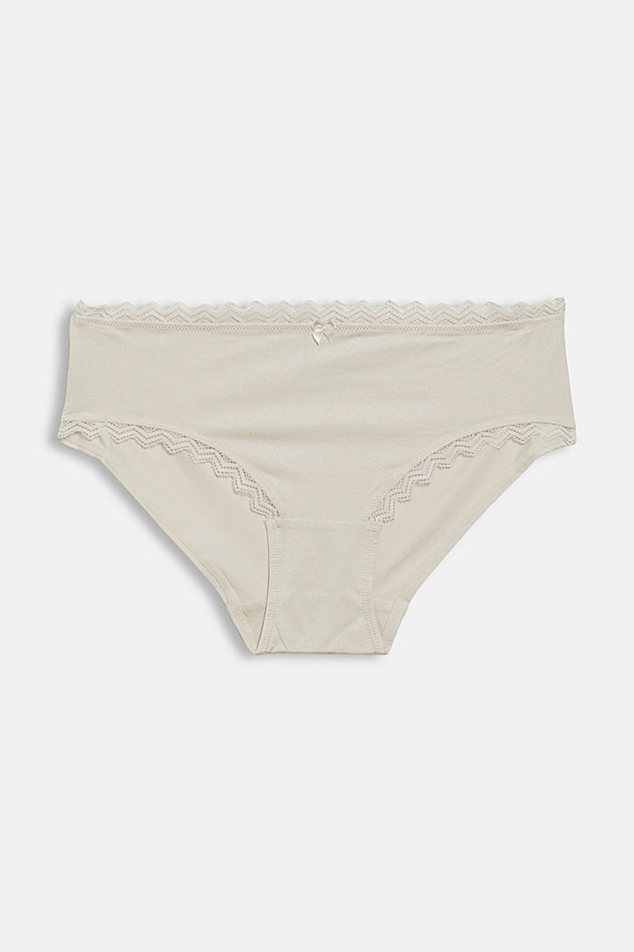 Patterned hipster shorts with lace details, ICE, detail image number 3