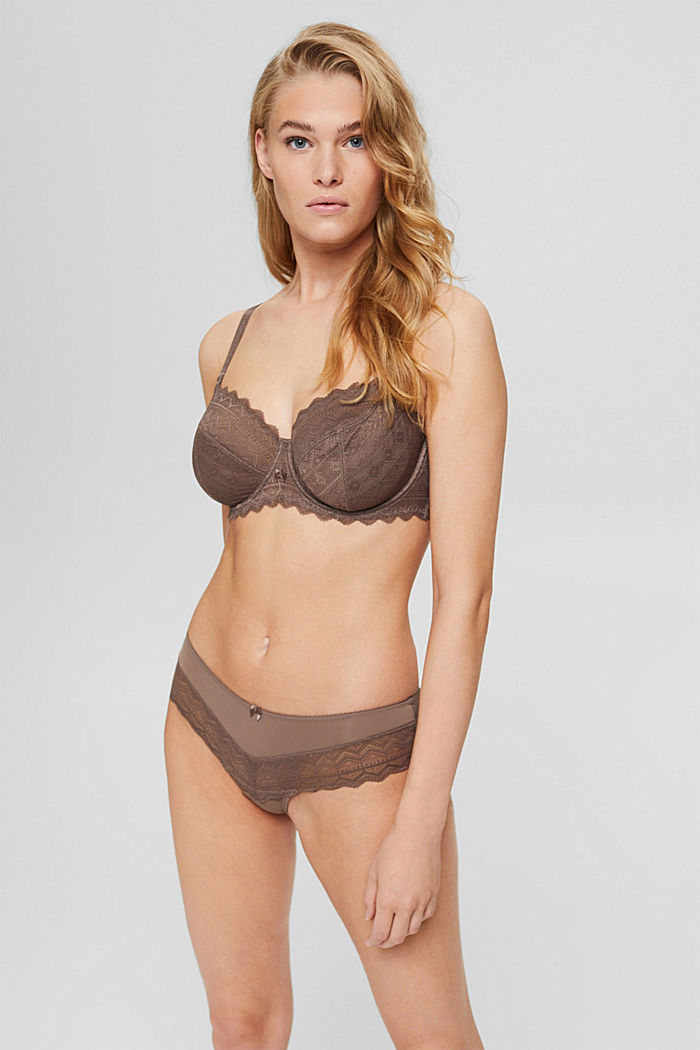 Bras with wire, TAUPE, detail image number 0