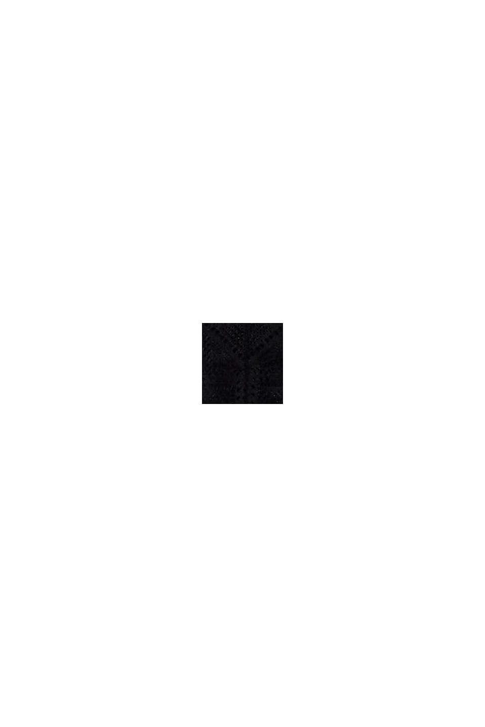 Reciclada: tanga de encaje, BLACK, swatch