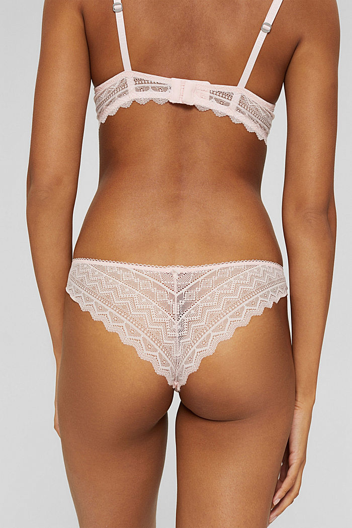 Recycled: hipster briefs with lace, LIGHT PINK, detail image number 3