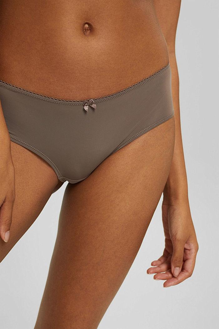 Reciclada: pack de dos culottes de tiro bajo, TAUPE, detail image number 1