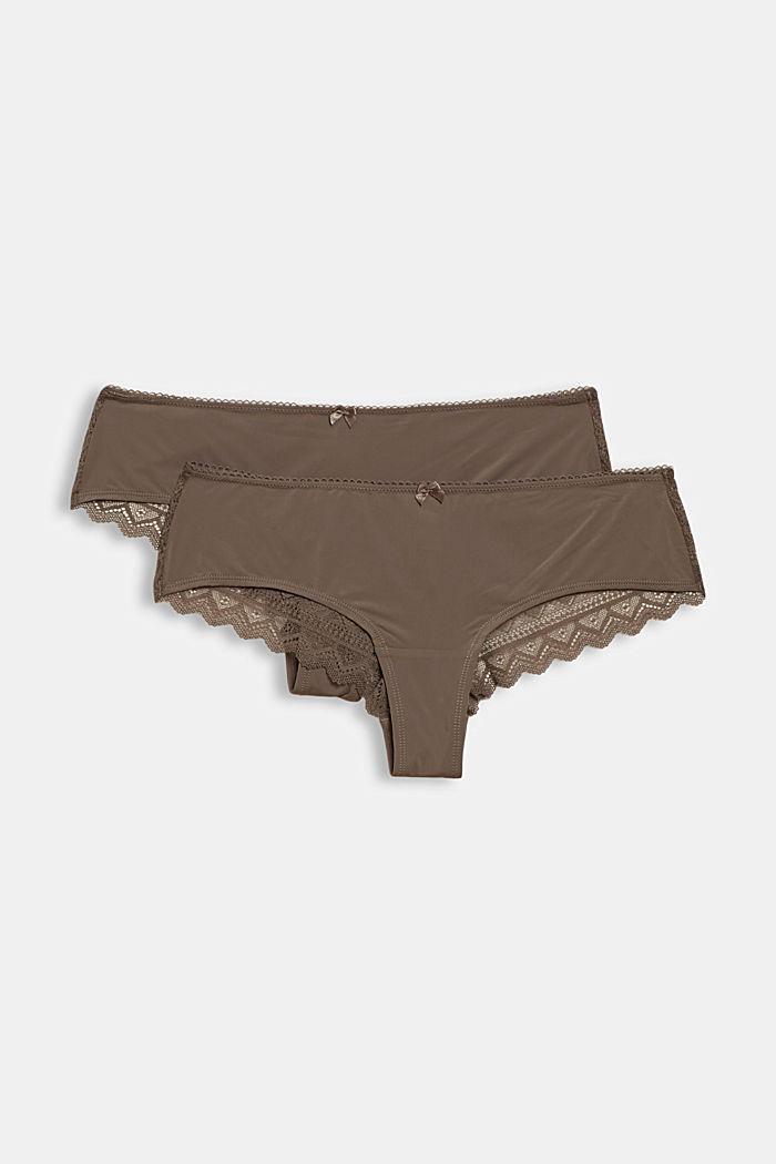 Reciclada: pack de dos culottes de tiro bajo, TAUPE, detail image number 4
