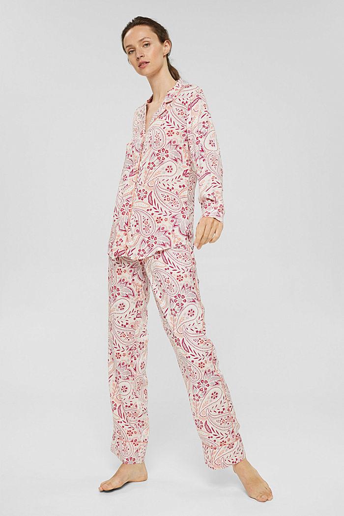 Pyjama aus 100% LENZING™ ECOVERO™, LIGHT PINK, detail image number 0