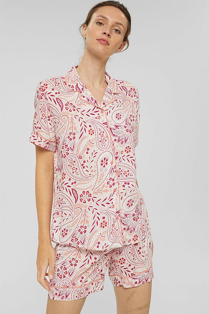Kurzer Pyjama aus 100% LENZING™ ECOVERO™