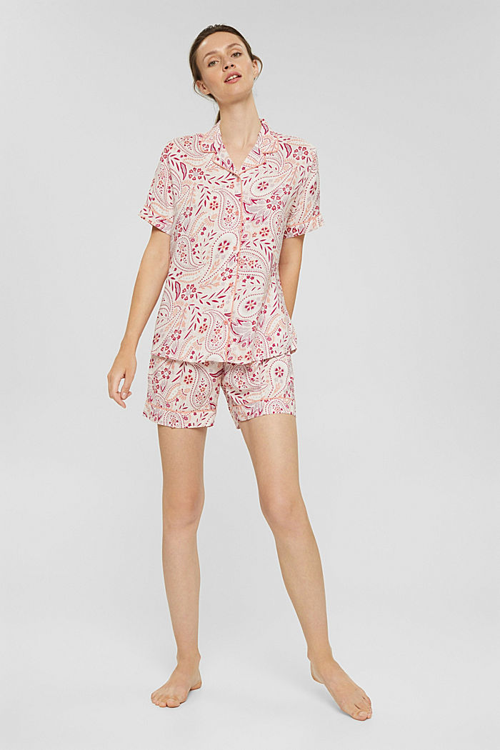 Kurzer Pyjama aus 100% LENZING™ ECOVERO™, LIGHT PINK, detail image number 0