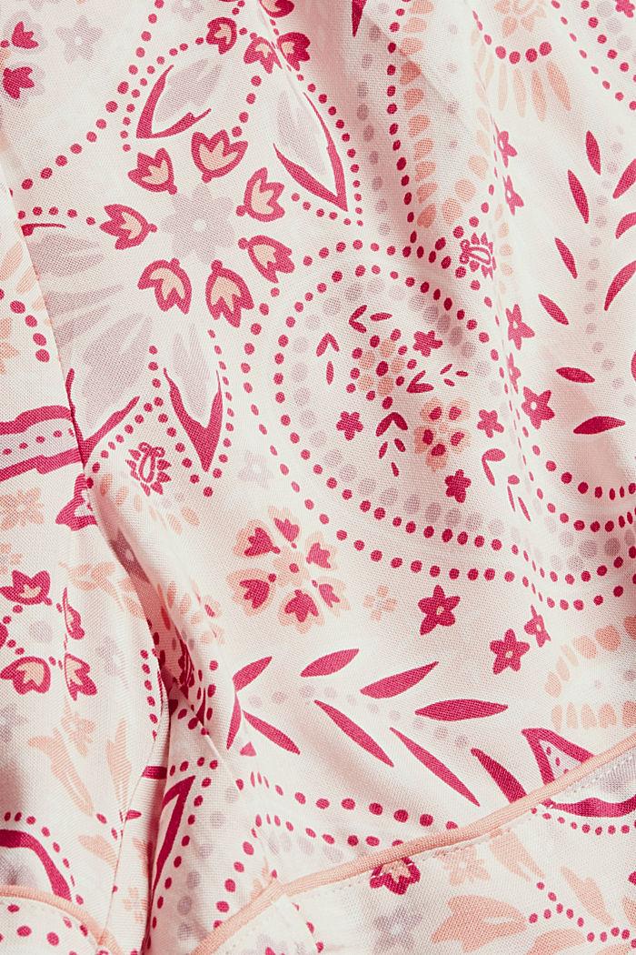 Kurzer Pyjama aus 100% LENZING™ ECOVERO™, LIGHT PINK, detail image number 4