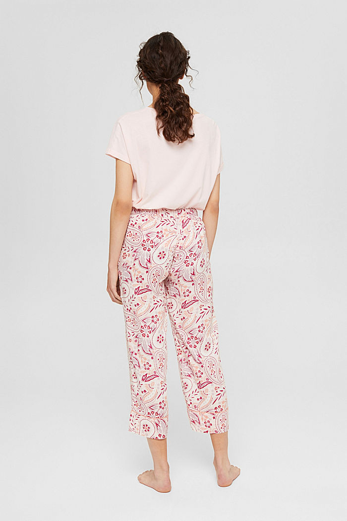 Cropped pyjama bottoms with LENZING™ ECOVERO™, LIGHT PINK, detail image number 3