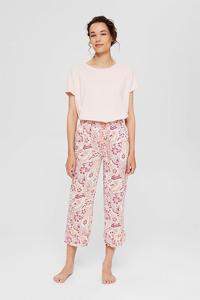 Cropped pyjama bottoms with LENZING™ ECOVERO™, LIGHT PINK, detail image number 1