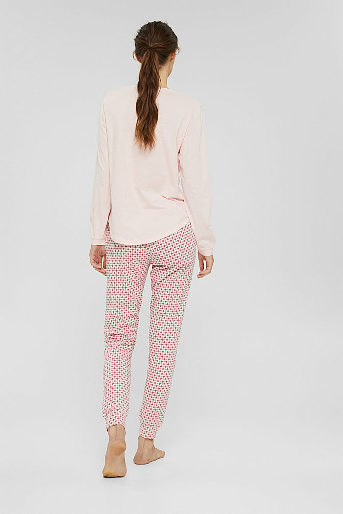 Jersey pyjama van 100% biologisch katoen, LIGHT PINK, detail image number 2