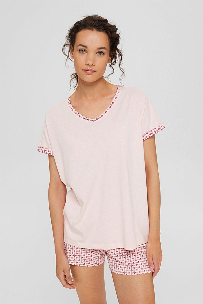 Jersey pyjama van 100% biologisch katoen, LIGHT PINK, detail image number 1