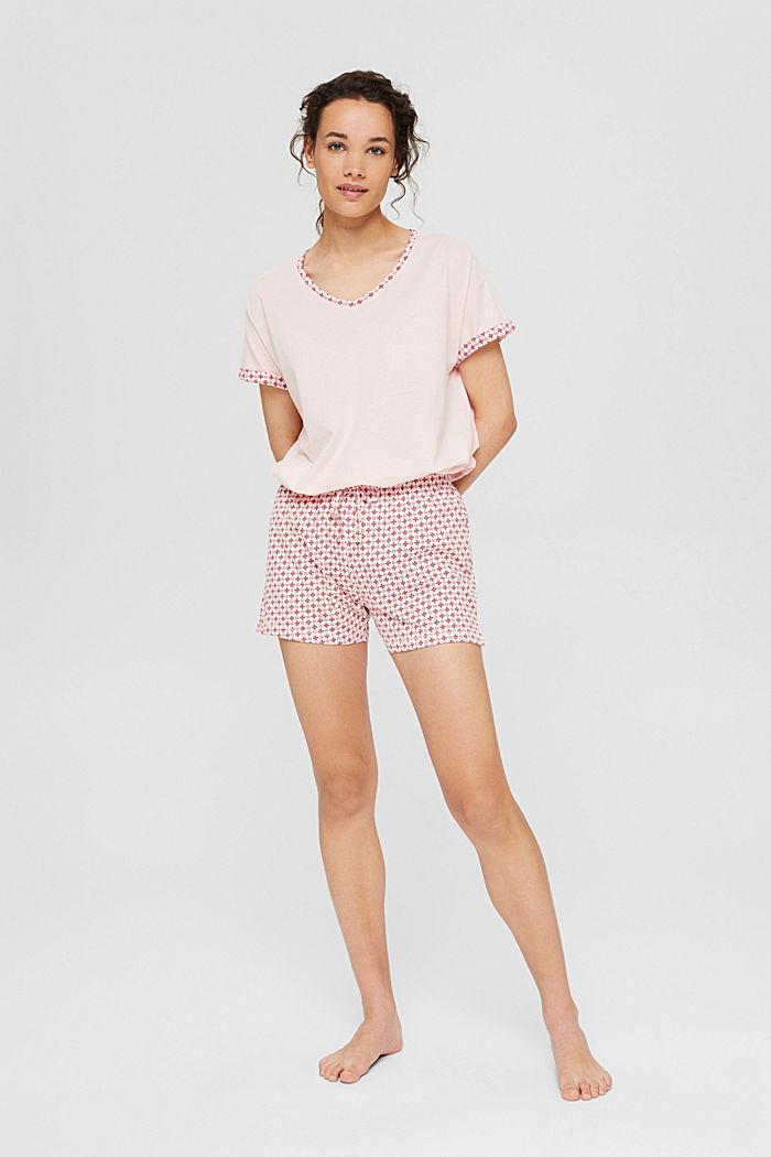 Jersey pyjama van 100% biologisch katoen, LIGHT PINK, detail image number 0