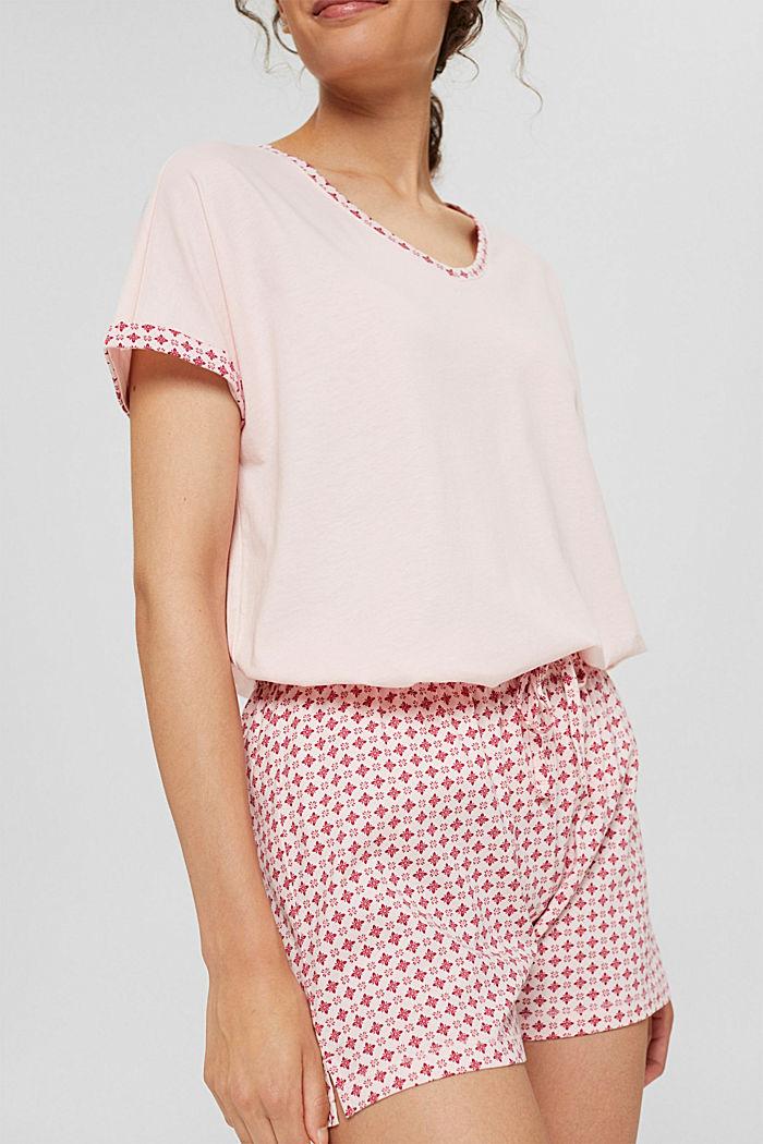 Jersey pyjama van 100% biologisch katoen, LIGHT PINK, detail image number 3