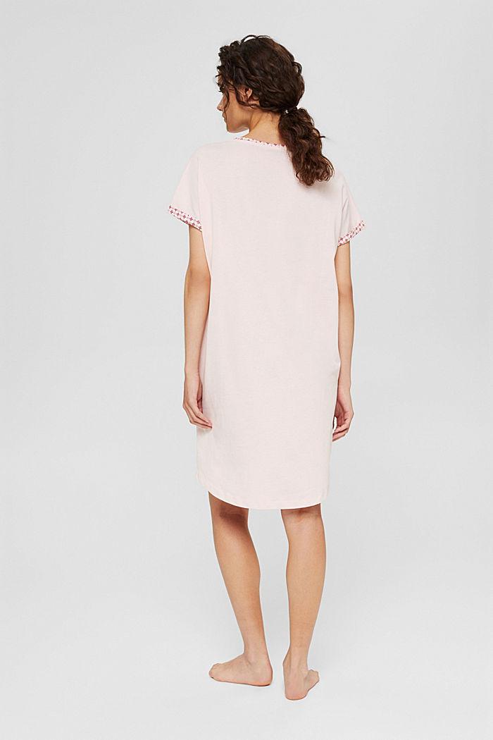 Jersey-Nachthemd aus 100% Organic Cotton, LIGHT PINK, detail image number 2