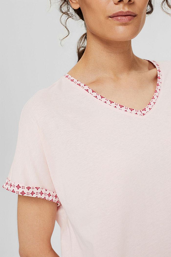 Jersey-Nachthemd aus 100% Organic Cotton, LIGHT PINK, detail image number 3