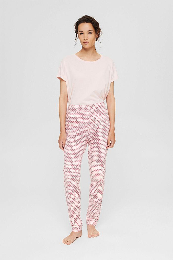 Jersey-Pyjamahose aus Organic Cotton, LIGHT PINK, detail image number 1