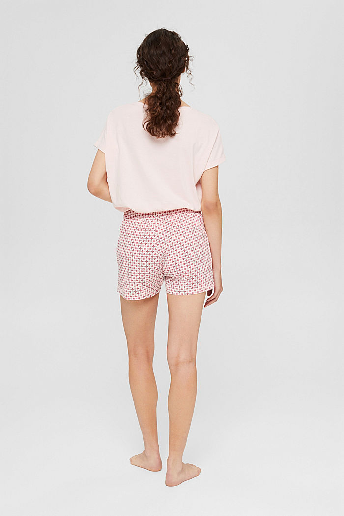 Jersey-Pyjamashorts aus Organic Cotton, LIGHT PINK, detail image number 3