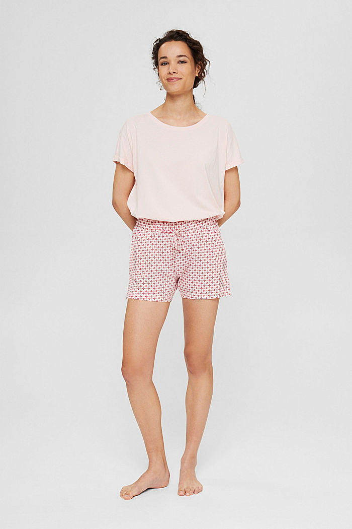 Jersey-Pyjamashorts aus Organic Cotton, LIGHT PINK, detail image number 1