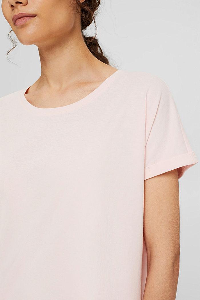 Jersey pyjama top made of organic cotton, LIGHT PINK, detail image number 3