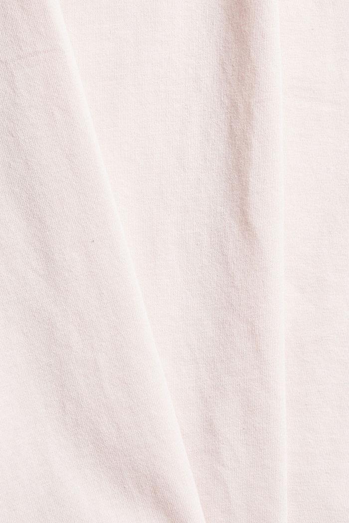 Jersey pyjama top made of organic cotton, LIGHT PINK, detail image number 4