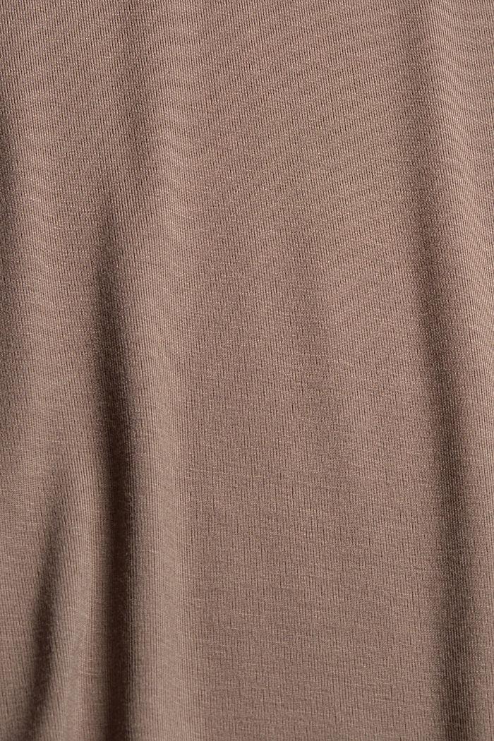Jersey pyjama van LENZING™ ECOVERO™, TAUPE, detail image number 4