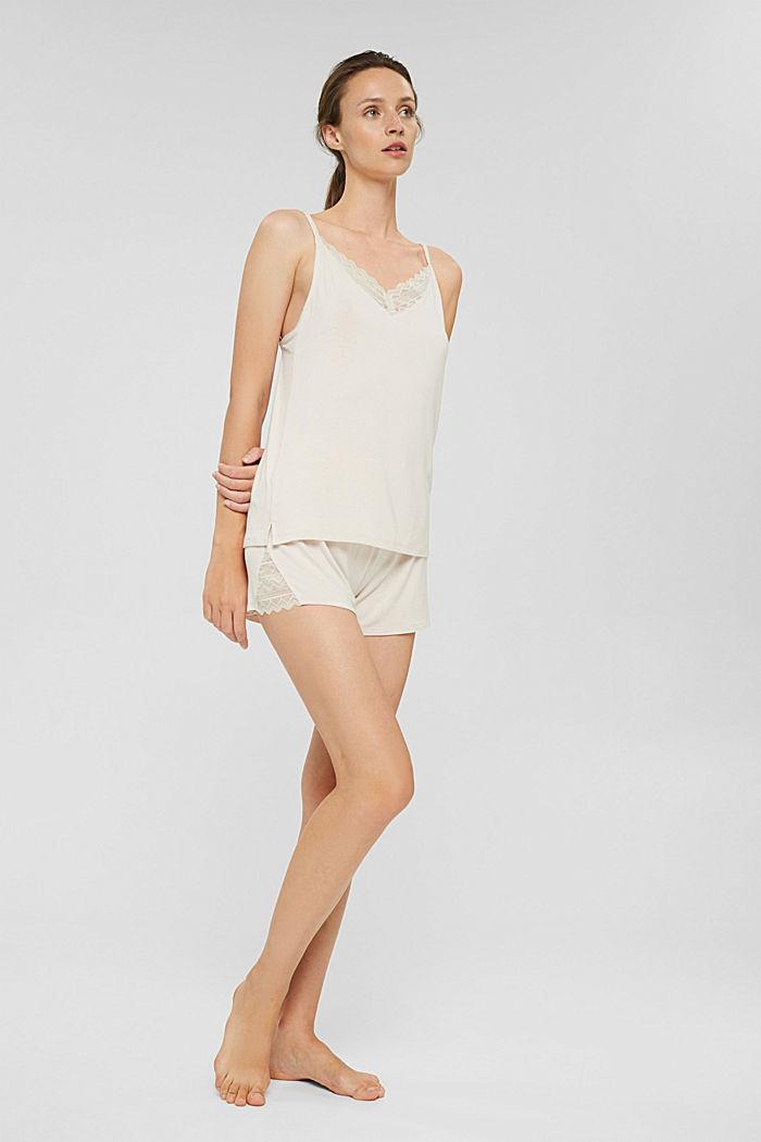 Kurzer Jersey-Pyjama aus LENZING™ ECOVERO™, ICE, detail image number 0