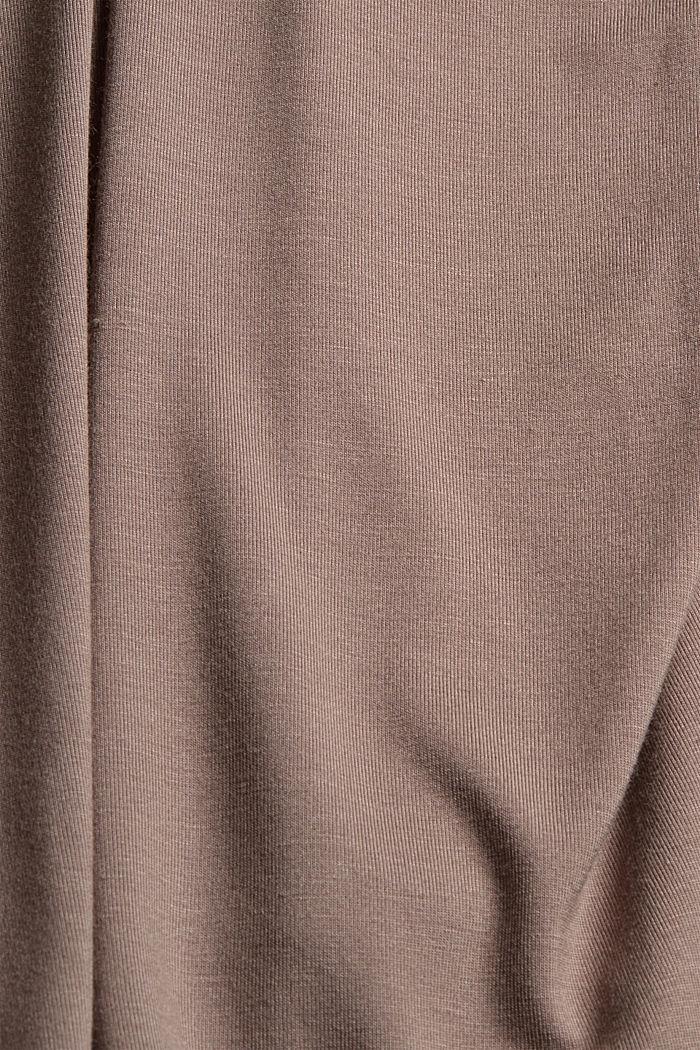 Kurzer Jersey-Pyjama aus LENZING™ ECOVERO™, TAUPE, detail image number 4