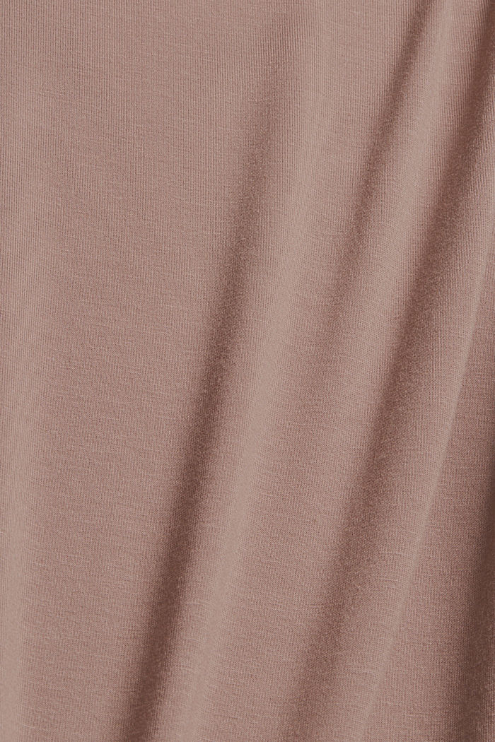 Jersey-Nachthemd aus LENZING™ ECOVERO™, TAUPE, detail image number 4