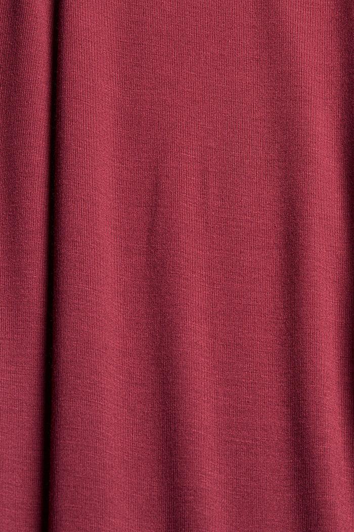 Jersey nightshirt made of LENZING™ ECOVERO™, DARK RED, detail image number 4