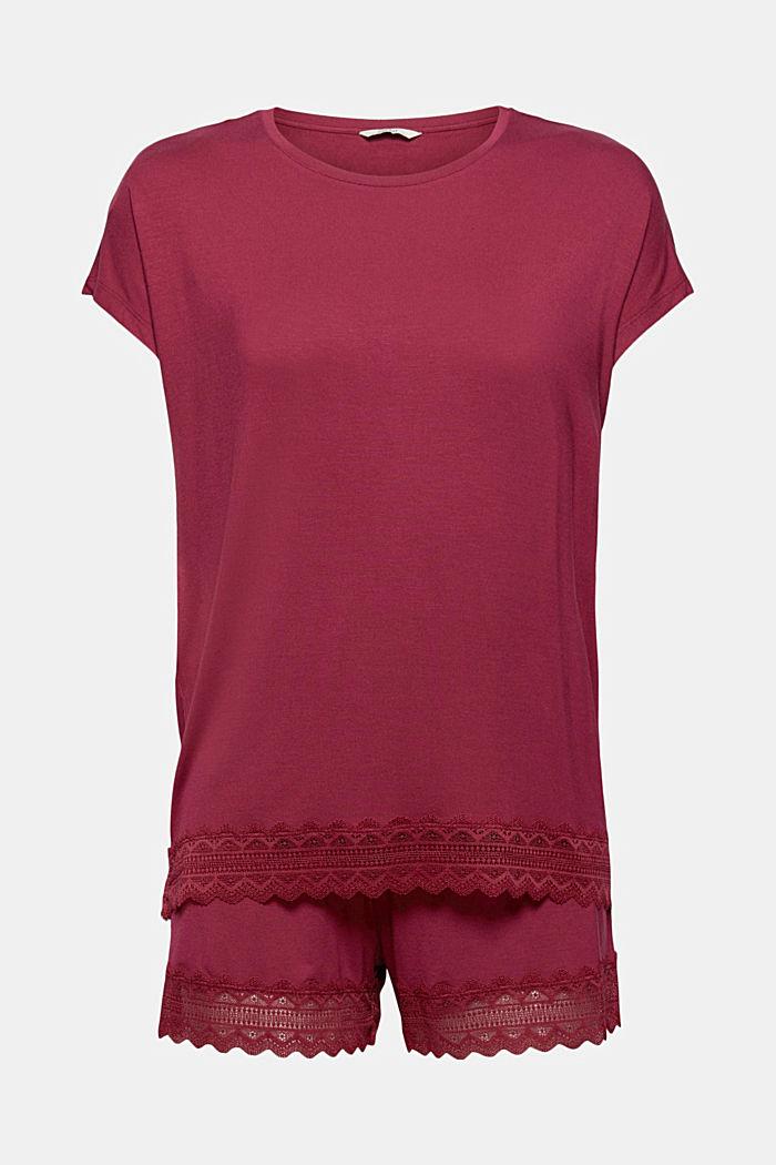 Short jersey pyjamas in LENZING™ ECOVERO™