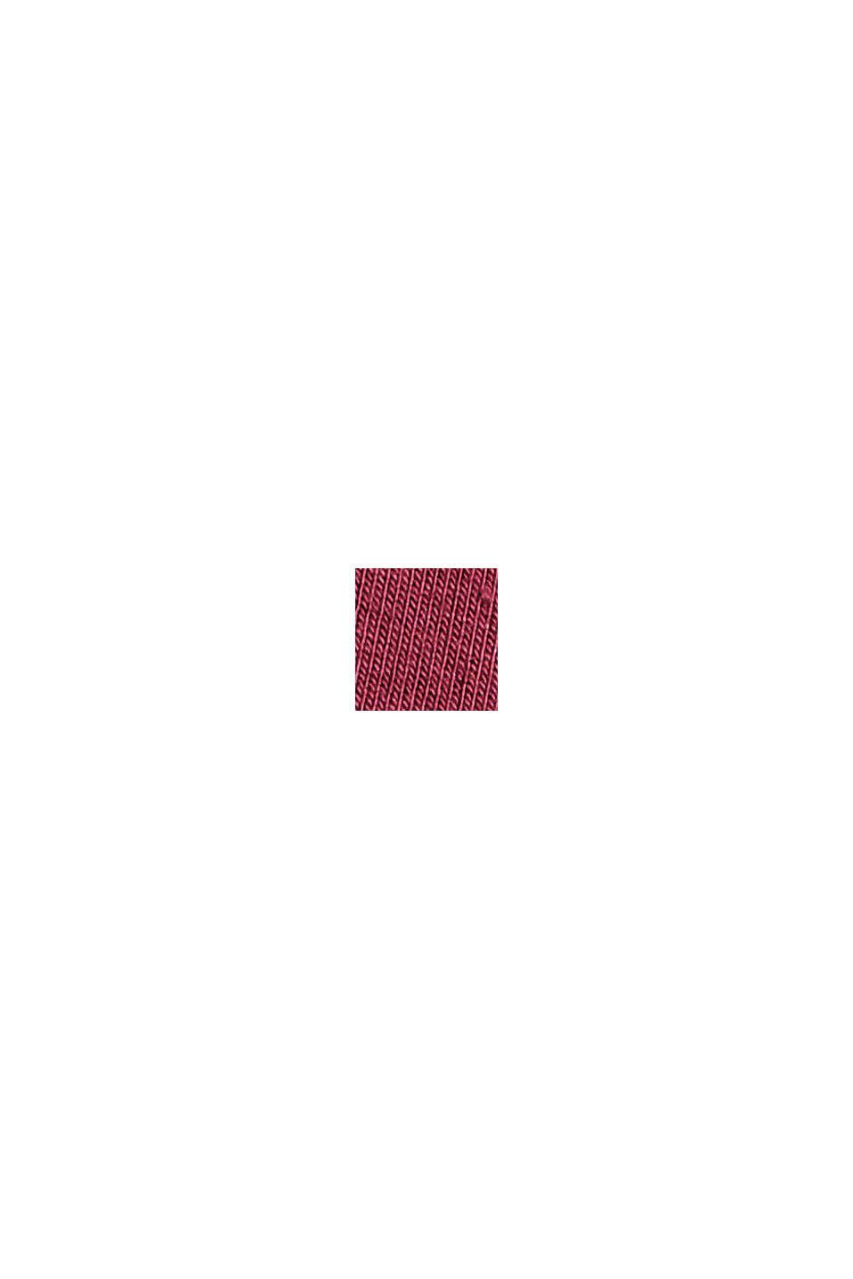 Maglia in jersey di LENZING™ ECOVERO™, DARK RED, swatch