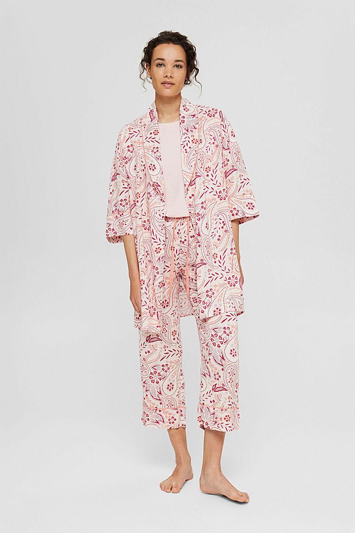 Kimono made of LENZING™ ECOVERO™, LIGHT PINK, detail image number 0
