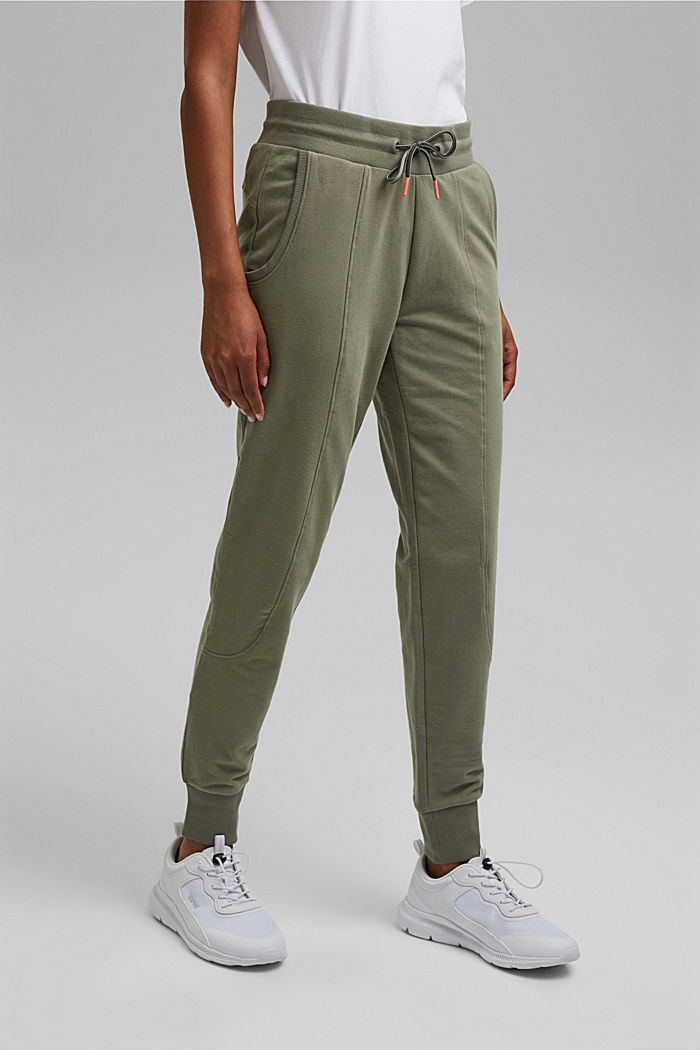 Tracksuit bottoms made of organic stretch cotton