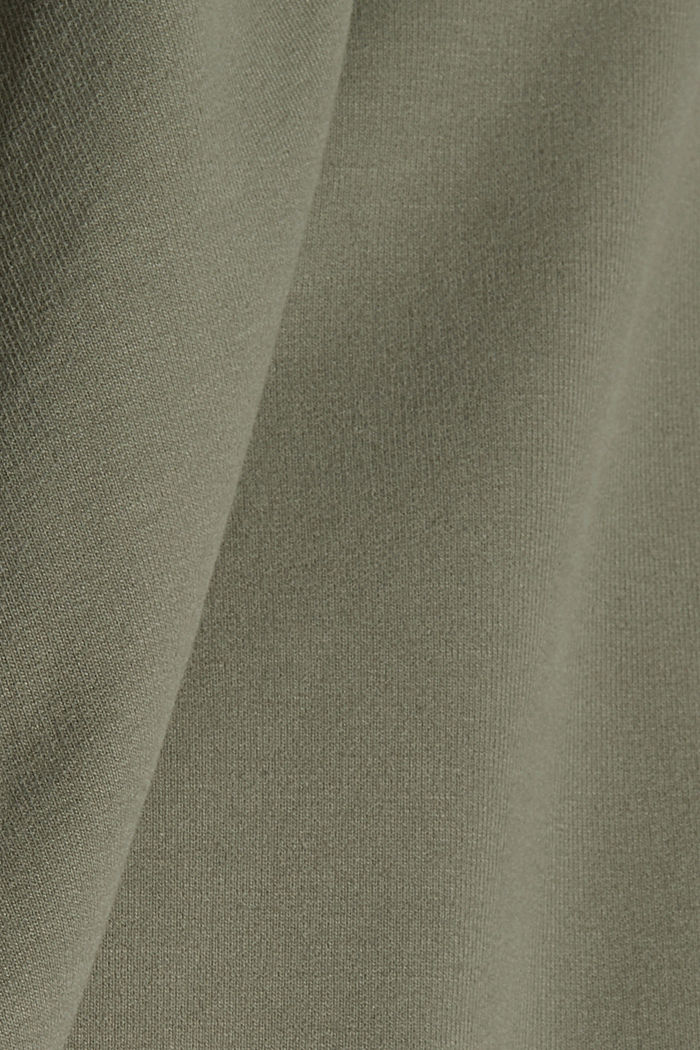 Tepláky z bio bavlny/streče, LIGHT KHAKI, detail image number 4