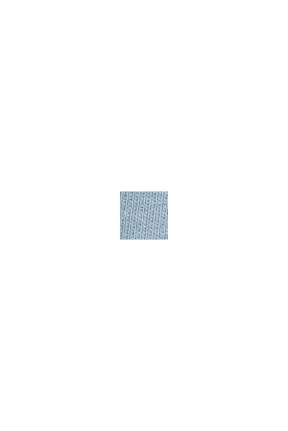 Pantalón jogging de algodón ecológico con componente elástico, PASTEL BLUE, swatch