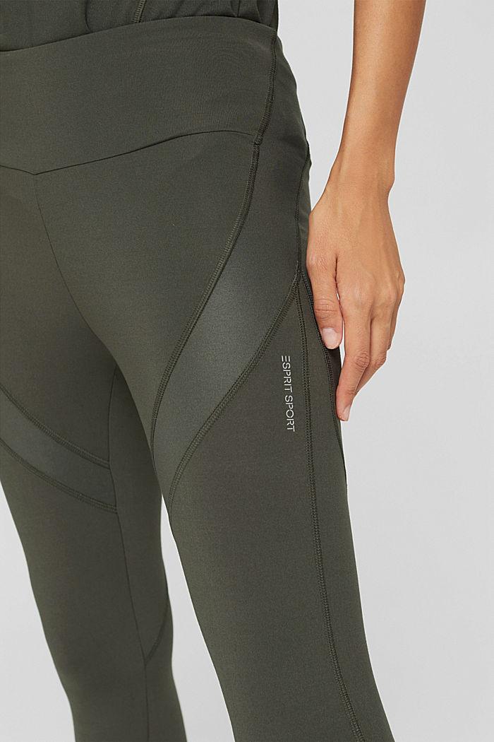 Active legging met blinde zak, DARK KHAKI, detail image number 2