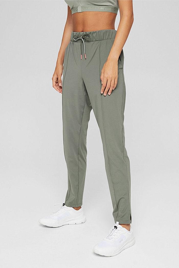 En matière recyclée: le pantalon de sport à coutures décoratives, DARK KHAKI, detail image number 0