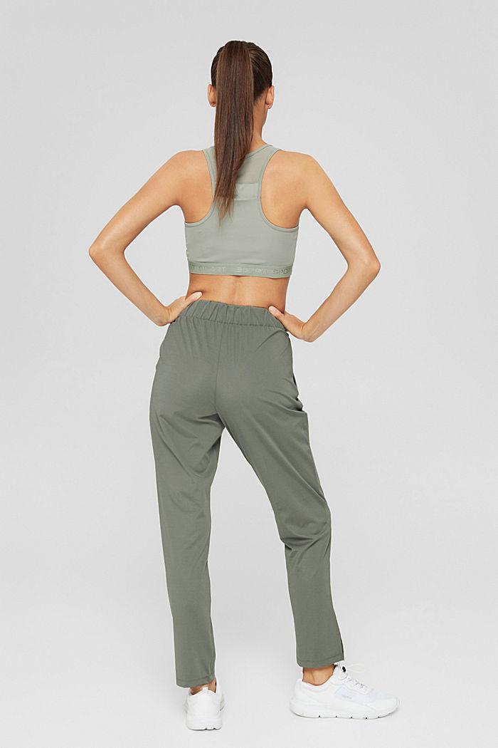 En matière recyclée: le pantalon de sport à coutures décoratives, DARK KHAKI, detail image number 3