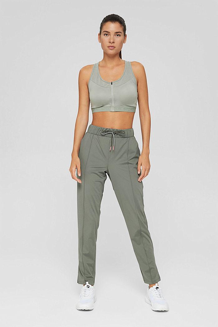 En matière recyclée: le pantalon de sport à coutures décoratives, DARK KHAKI, detail image number 1