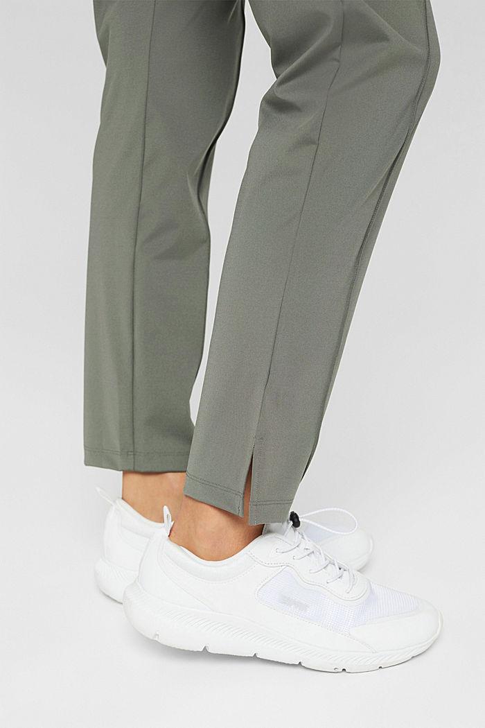 En matière recyclée: le pantalon de sport à coutures décoratives, DARK KHAKI, detail image number 5