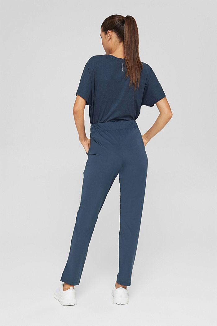 En matière recyclée: le pantalon de sport à coutures décoratives, NAVY, detail image number 3