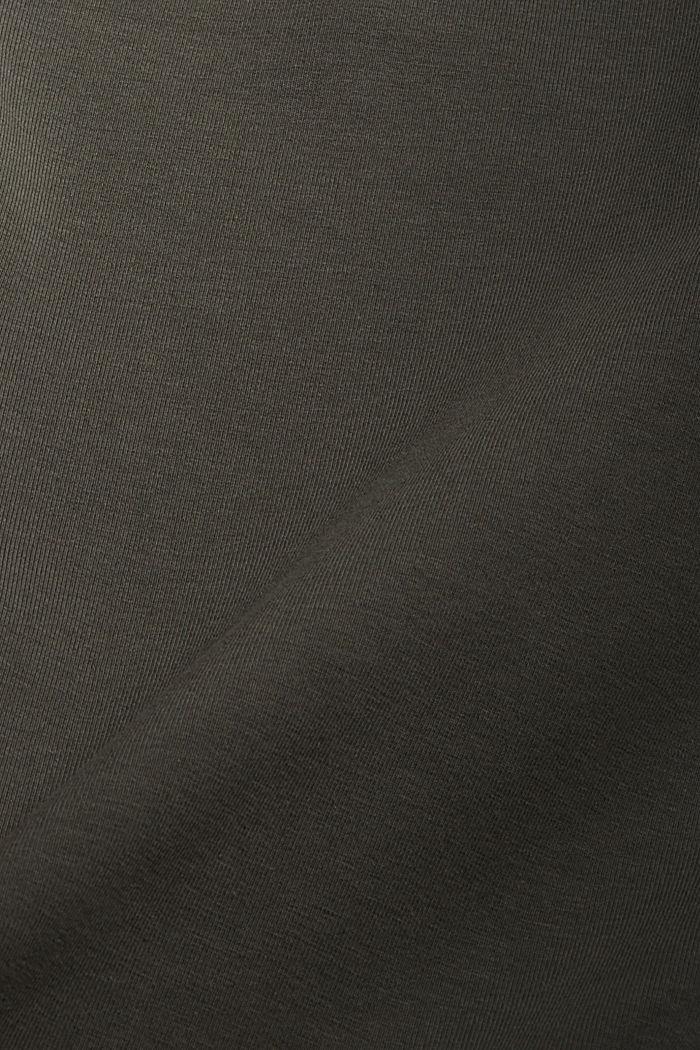 Pantalon de jogging longueur chevilles en coton biologique stretch, DARK KHAKI, detail image number 4
