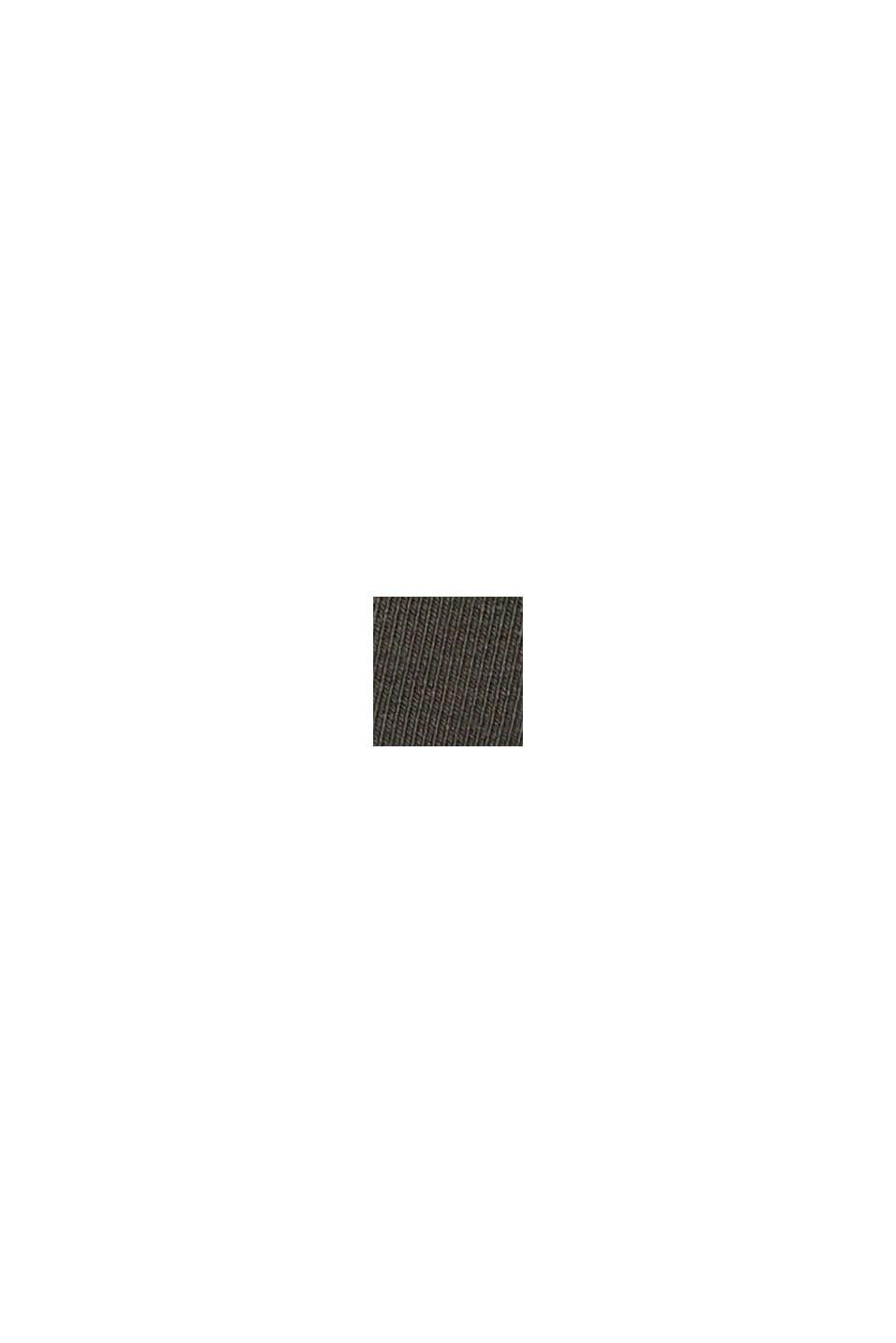 Knöchellange Sweathose aus Bio-Baumwolle/Stretch, DARK KHAKI, swatch