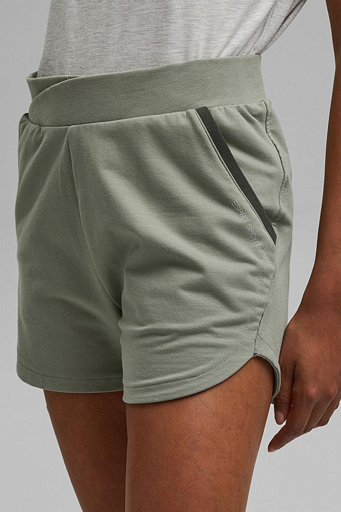 Sweatshorts aus Bio-Baumwolle, LIGHT KHAKI, detail image number 2