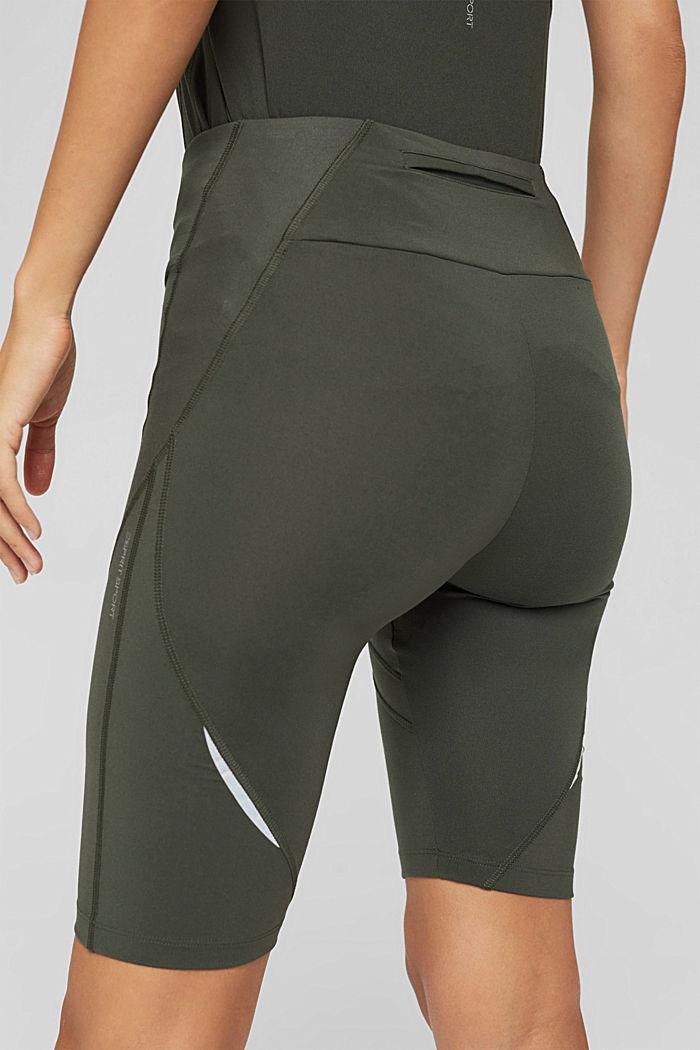 Shorts deportivos con bolsillos ocultos